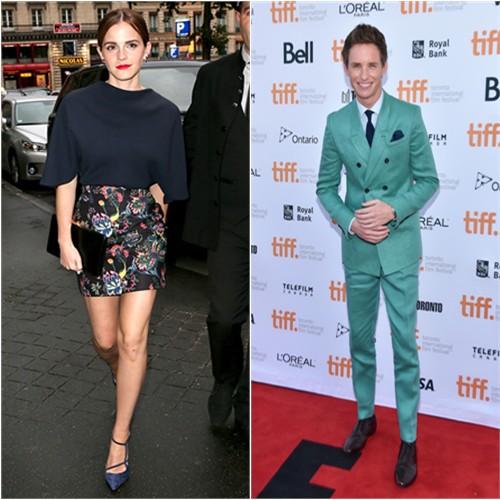 Emma in Dior; Eddie in Burberry Prorsum