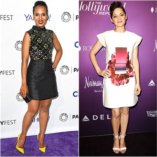 Kerry in Mary Katrantzou; Marion in Carolina Herrera