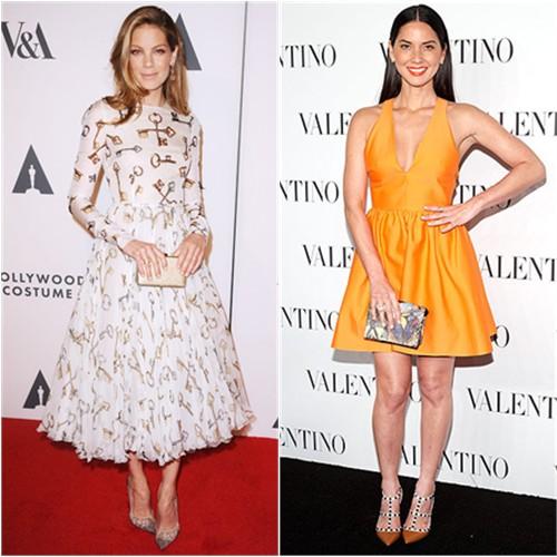 Michelle in Dolce & Gabbana; Olivia in Valentino