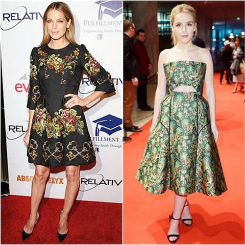 Michelle in Dolce & Gabbana; Kiernan in Delpozo
