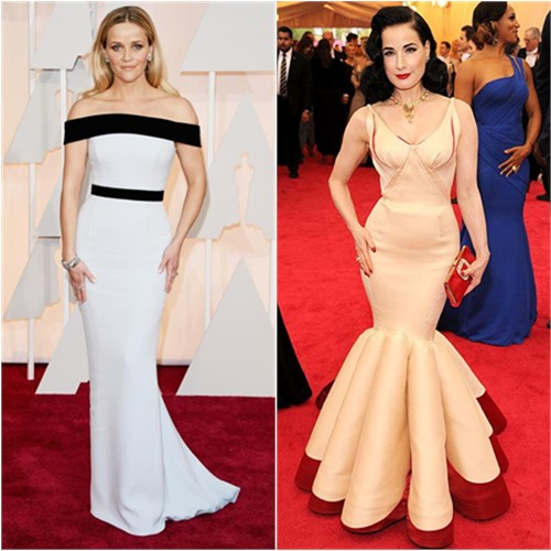 Reese in Tom Ford; Dita in Zac Posen