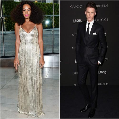 Solange in Calvin Klein; Eddie in Gucci