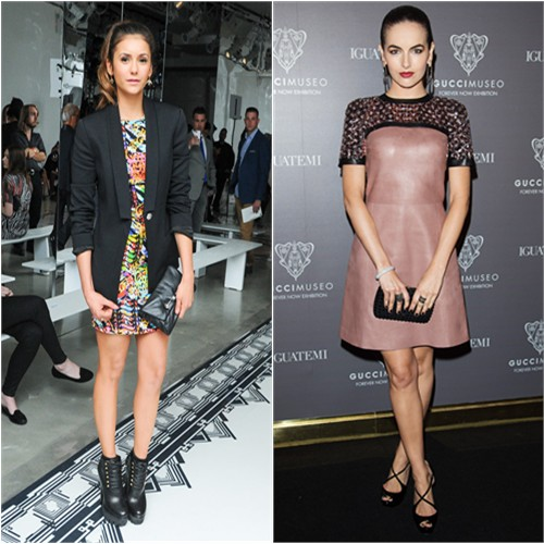 Nina in Versus Versace; Camilla in Gucci