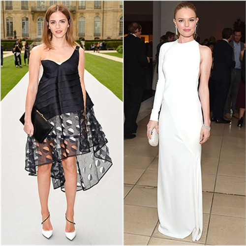 Emma in Dior; Kate in Alexandre Vauthier