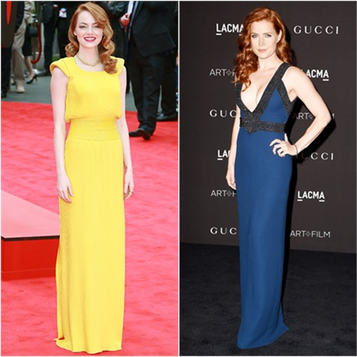 Emma in Atelier Versace; Amy in Gucci
