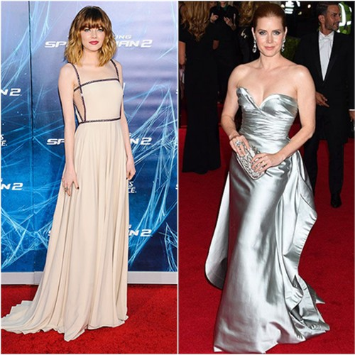 Emma in Prada; Amy in Oscar de la Renta