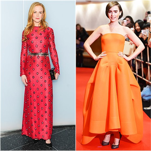 Nicole in Louis Vuitton; Lily in Maticevski