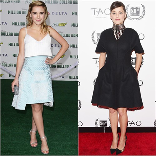 Kiernan in Peter Pilotto; Marion in Dior