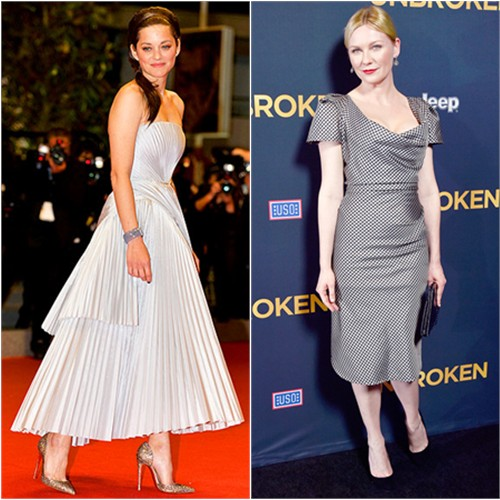 Marion in Dior; Kirsten in Vivienne Westwood