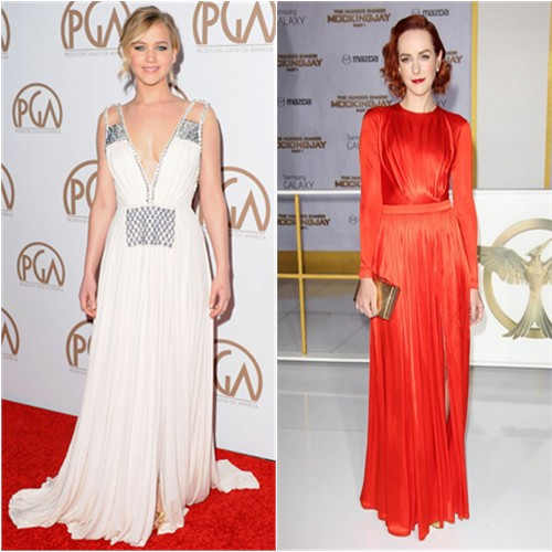 Jennifer in Prada; Jena in Emanuel Ungaro