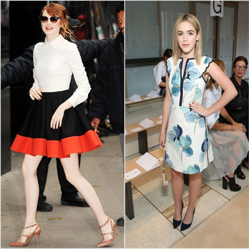 Emma in Valentino; Kiernan in Tory Burch