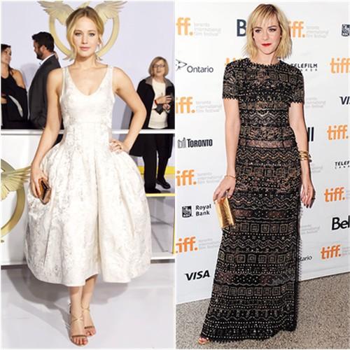 Jennifer in Dior; Jena in Emilio Pucci