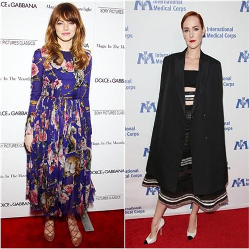 Emma in Dolce & Gabbana; Jena in Reem Acra