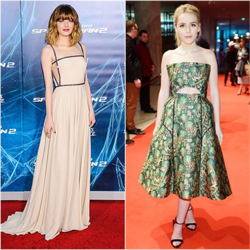 Emma in Prada; Kiernan in Delpozo
