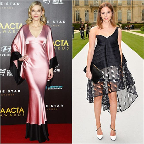 Cate in McQueen; Emma in Dior