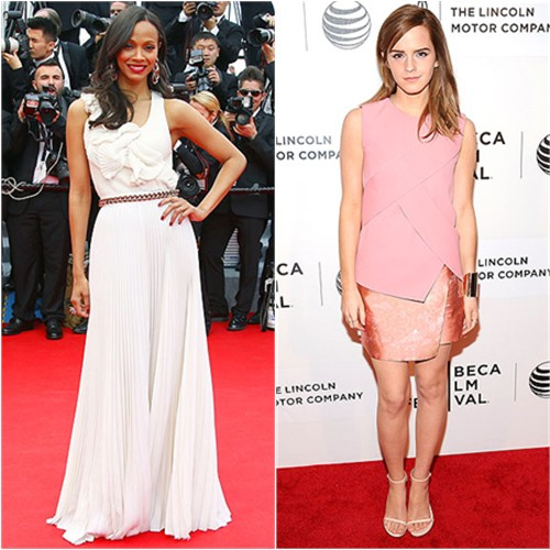 Zoe in Victoria Beckham; Emma in Narciso Rodriguez