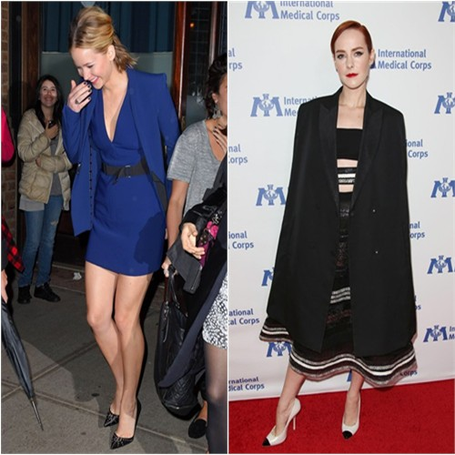 Jennifer in David Koma; Jena in Reem Acra
