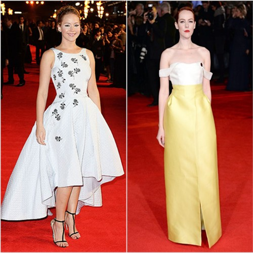 Jennifer in Dior; Jena in Emilia Wickstead