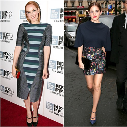 Jena in Thom Browne; Emma in Dior