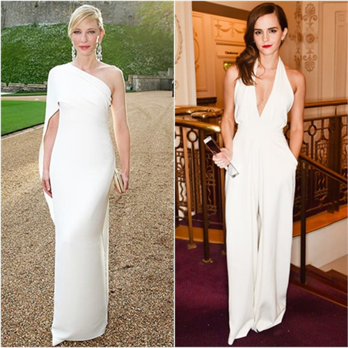Cate in Ralph Lauren; Emma in Misha Nonoo