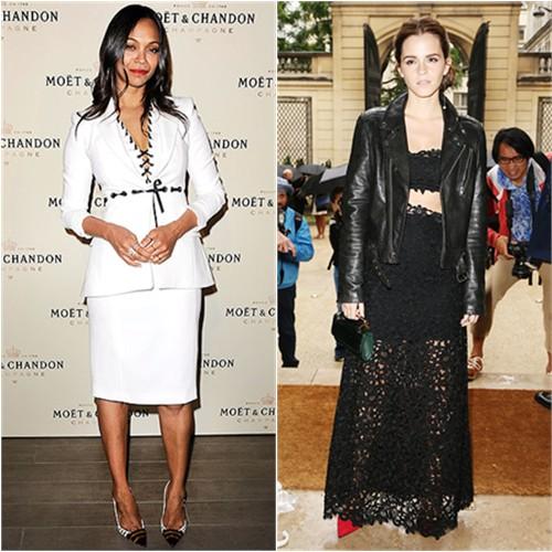 Zoe in Altuzarra; Emma in BLK DNM/Dior