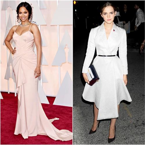 Zoe in Atelier Versace; Emma in Dior