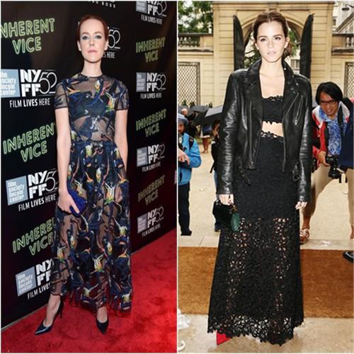 Jena in Valentino; Emma in BLK DNM/Dior