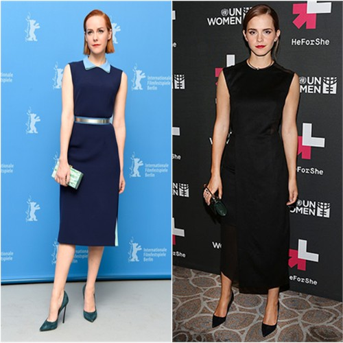 Jena in Roksanda; Emma in Hugo Boss