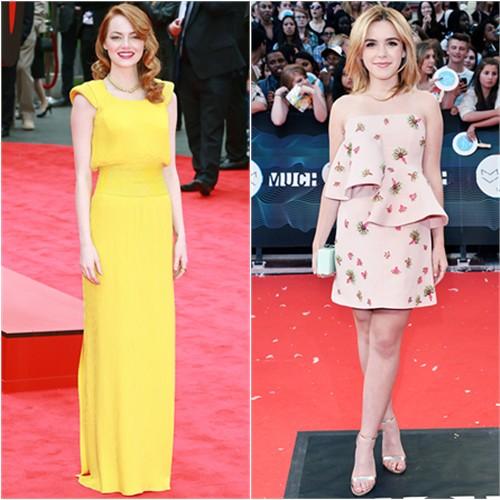 Emma in Atelier Versace; Kiernan in Marni