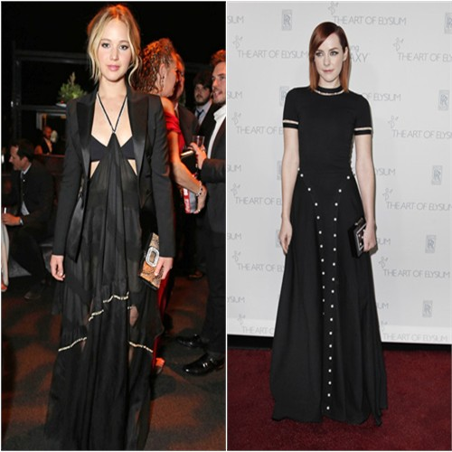 Jennifer in Altuzarra; Jena in Adam Selman