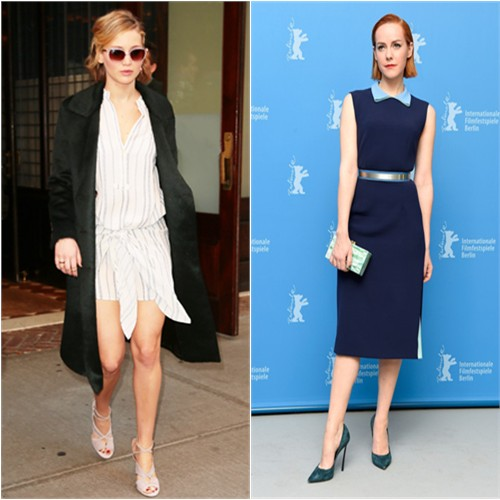 Jennifer in Burberry/Ulla Johnson; Jena in Roksanda