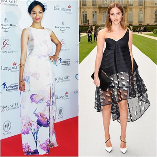 Zoe in Nina Ricci; Emma in Dior