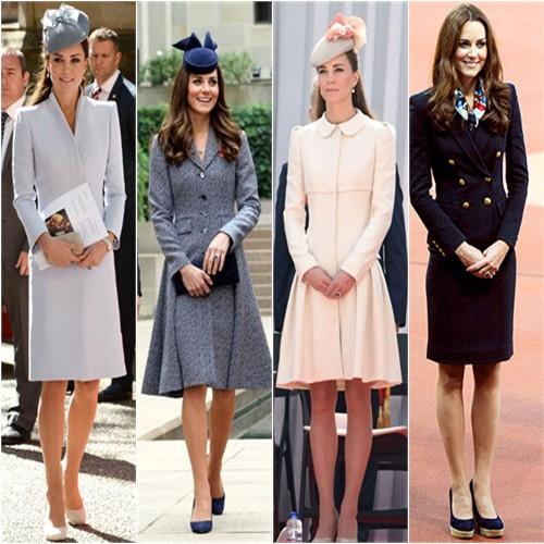 Duchess Kate in McQueen, Michael Kors, McQueen, & Emilio Pucci