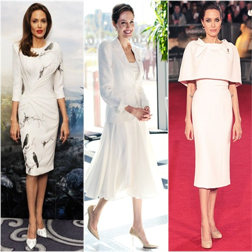 Angelina Jolie in Versace, Michael Kors, & Ralph and Russo