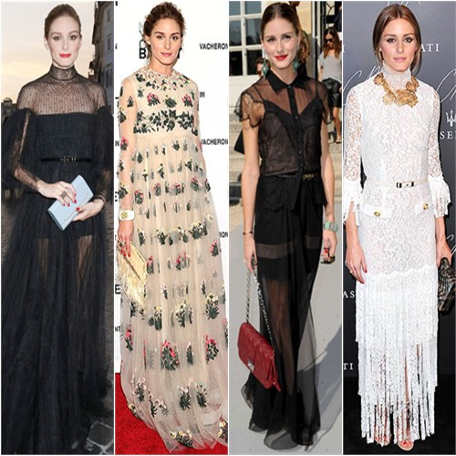Olivia in Valentino, Valentino, Dior, & Alessandra Rich
