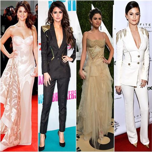 Selena in Versace