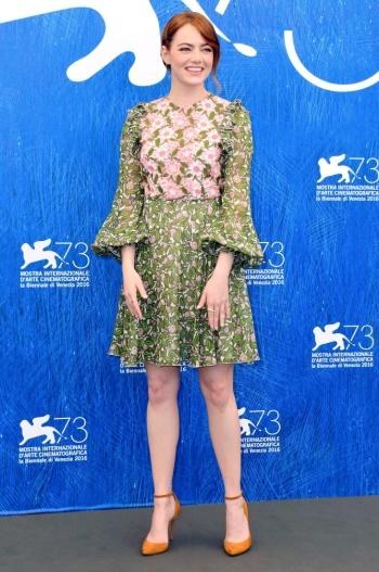 Emma Stone attending the 'La La Land' photocall in Venice USA/AUS ONLY