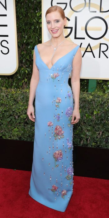 8aa04c0ac JESSICA CHASTAIN gown by Prada, jewelry by Piaget